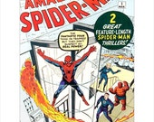 Spider Man Comic Book Cover art print - Marvel Comics The Amazing Spider-Man #1 - Spiderman poster art - Marvel Comics - DC Comics cover art