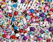 Bulk (2lbs) Glam Rock Twinkle Sprinkle Medley, Black and Rainbow, Black and Silver, Rainbow Sprinkles