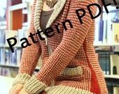 Urban Houndstooth Cardigan: PDF Knitting Pattern by The Sexy Knitter