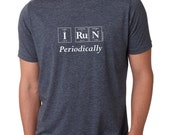"The ""I RUN Periodically"" Men's T-Shirt - Periodic Table Themed Guy's Tee by Periodically Inspired (Vintage Blue)"