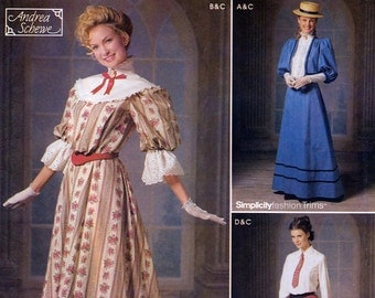 Simplicity 9723  Sewing Pattern for Misses' Victorian Costume by Andrea Schewe - Uncut - Size 14, 16, 18, 20