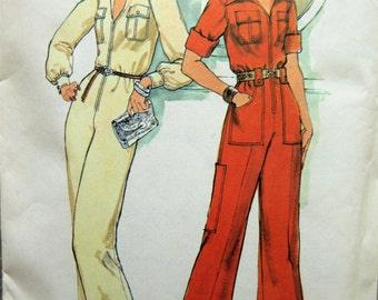 Vintage Simplicity 7310 Sewing Pattern, 1970s Jumpsuit Pattern, Coveralls, Bust 34, 1970s Sewing Pattern, Zip Up Jumpsuit, Wide Legged Pants