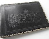 Embossed Leather Scrapbook Album / City of Prague Cover / Empty Scrapbook / Travel Scrapbook / String Bound Album