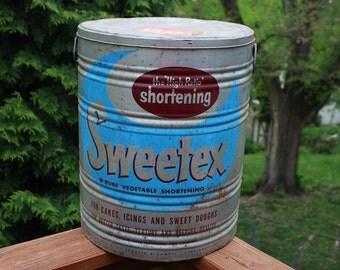 Vintage Tin Large  Sweetex Shortening / Large Tin