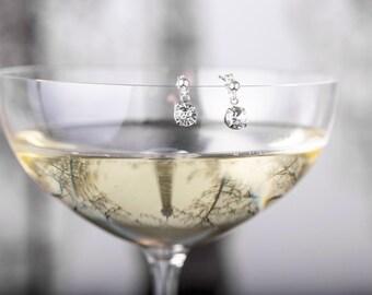 Wedding Earrings - Odette Earring - Bridesmaid Earrings - Bridal Earrings - Wedding Earrings - Crystal Drop Earrings - Wedding Earrings