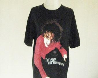 The Cure Black Robert Crawl Swing Tour Shirt Top