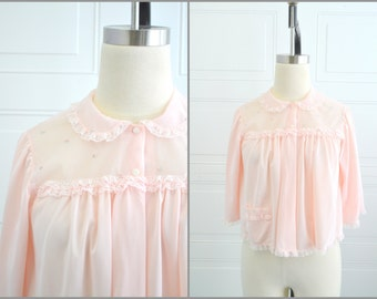 1960s Shadowline Pink Bed Jacket