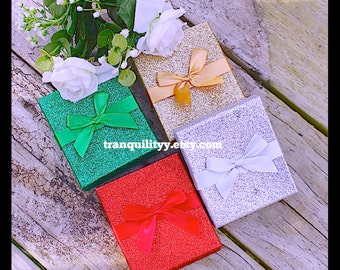 """Gift Box , Elegant Glitter Gift Box 3""""3/4"""" x 3""""1/4"""" Add On With Your Order  Purchase ( Only) , Free Shipping By: Tranquilityy"""