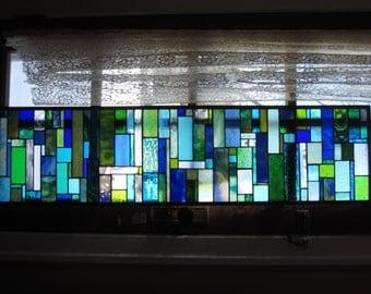 stained glass transom. CUSTOM MADE Sea Side HUMONGO