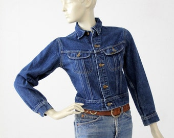 vintage 70s Lee denim jacket, small American jean jacket