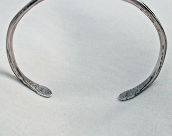 Hand Forged Large Twisted Dimpled Sterling Bracelet