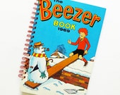 Beezer Notebook, Beezer Journal, Beezer 1968, Beezer 1969, up-cycled notebook, recycled book, eco-friendly gift for guys