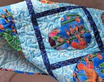 """Baby Quilt entitled """"The Aquarium"""""""