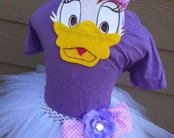Girls Daisy Duck Tutu Dress Halloween Costume