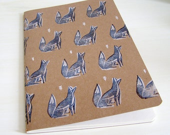 Foxes in Woodland Sketchbook or Notebook