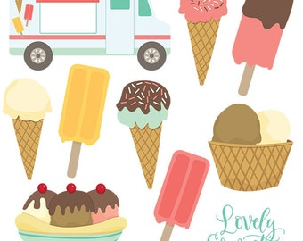 Ice cream clip art images,  ice cream clipart, ice cream vector, royalty free clip art- Instant Download