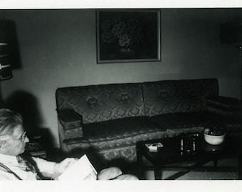 "Vintage Photo ""Vampires Read in the Dark"" Men Book Snapshot Antique Photo Old Black & White Photograph Found Paper Ephemera Vernacular - 105"