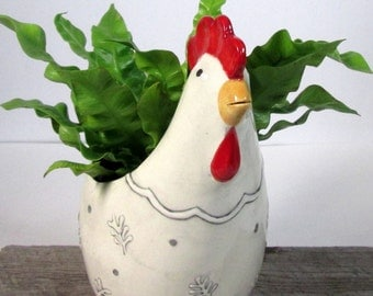 Rooster planter  Ready to ship