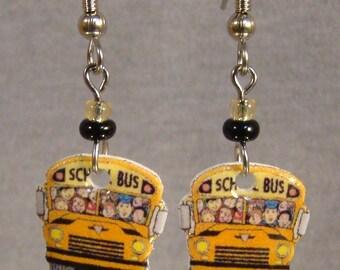 School Bus Dangle Earrings - Bus Driver Jewelry