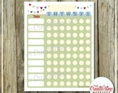Chore Chart | NOW EDITABLE! | Responsibility Chart | Blue Theme | Vertical Chore Chart | Sunday to Saturday | Printable Weekly Chart