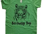 Birthday Tiger Shirt - Tiger Birthday Boy - Big Cat TShirt - 7 Colors - T shirt Sizes 2T, 4T, 6, 8, 10, 12 - Gift Friendly - Birthday Tshirt