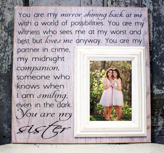 Sister Gift Maid of Honor gift Sister Wedding Gift
