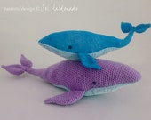 Amigurumi Crochet Pattern Whale PDF - Blue Whales amigurumi Toy crochet pattern - Instant DOWNLOAD