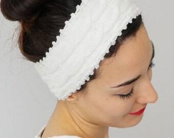 Headband Winter Headband Fashion Headband Ear Warmer Head Wrap Hair Wrap  Fashion Hair Accessories Knit Beanie Turban Ivory Braided