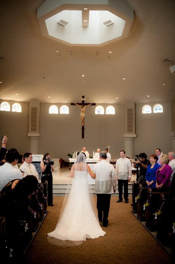 Bridal Veil Swarovski Crystal Rhinestone Edged Sheer 108 Inch Long Cathedral Length Wedding Veil