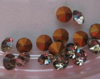Vintage Swarovski Black Diamond Rhinestones Art.1100 pp21 ss10 2.80 - 2.90mm QTY - 8