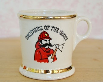 Vintage Mustache Mug for Brothers of the Brush Sesquicentennial Celebration