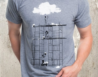 Cloud Factory - Men's Tri-Blend T-Shirt - American Apparel - Men's Small Through 2XL Available