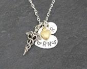 VALENTINE Gift for Nurse, NURSE Necklace, RN Necklace, Personalized Nurse Gift, Student Nurse Gift, Gift for Nurse, Nurse Mom,