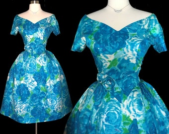 Vintage 1950s Dress // Suzy Perette // 50s  Dress //New Look //Femme Fatale//Rockabilly//Mad Man//Mod//