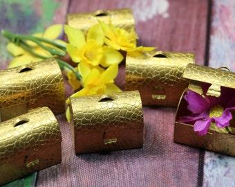 1 Vintage Miniature Brass Chest Box