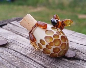 Bumble Bee Mini Bottle Pendant