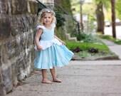 Cinderella cotton and eyelet play dress