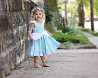 Cinderella cotton and eyelet play dress
