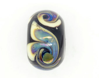 Lampwork Focal Bead Blue and Black Instanbul (not Constantinople) Bead