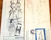 Girls Sundress Dress Buttoned Midriff and Straps Vintage 1950s Patt-O-Rama Mail Order Sewing Pattern 8217 Size 3 Chest 22 Unprinted Complete