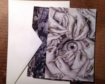 Drawn To See Postcards, 3-Piece Illustration Set