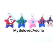 Mario inspired star charm set- Ready to Ship