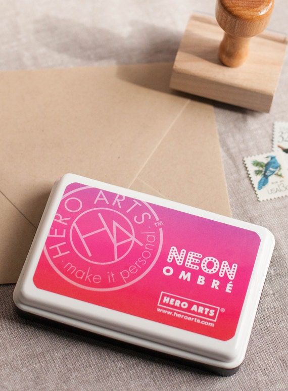 Ombre Ink Pad Neon Red To Purple Hero Arts Stamping Ink