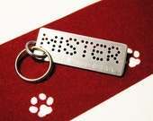 Dog name tag for dog - hand punched - personalized metal custom nametag asap gift