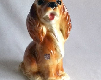 Royal Copley Brown Dog Figurine Vintage