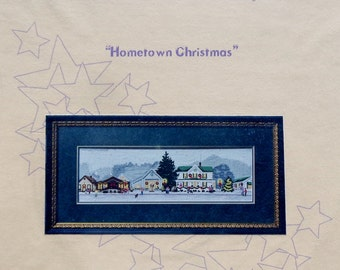 Counted Cross Stitch Pattern HOMETOWN CHRISTMAS Artwork By L. Kotila for Stardust