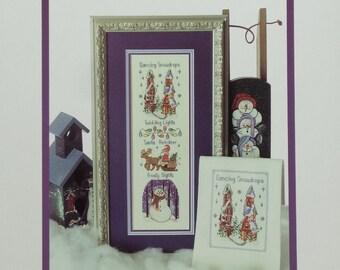 Cross Stitch Pattern FROSTY NIGHTS Christmas Sampler By Lavender Wings