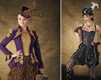 Chained Steampunk Skirt and Bustier Pattern Simplicity 1248 (Womens sizes 6-8-10-12)