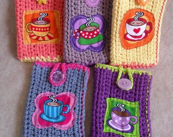 Coffee Tea Bags to go, Coffee on the go Carry Pouches, Bring Your Own Coffee or Tea Bags