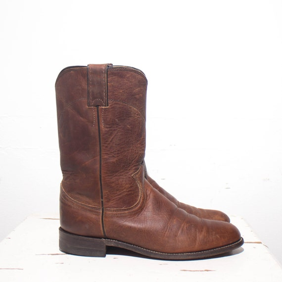 7 b s brown pull on justin roper boots all